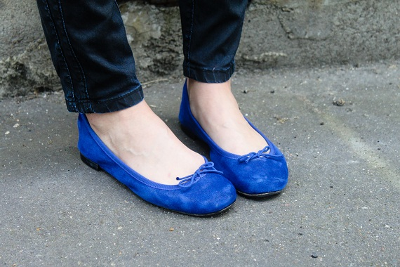 chaussures ballerines Repetto bleues