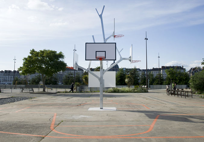 Nantes arbre basket