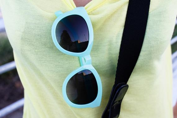 lunettes Topshop top Vero Moda