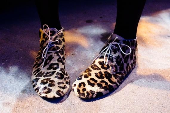 chaussures derbies Anniel léopard