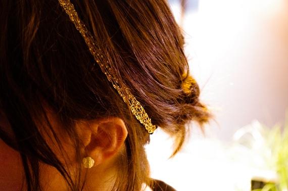 headband doré Jolie Tête
