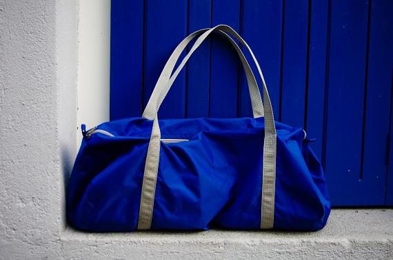sac sport American Apparel bleu