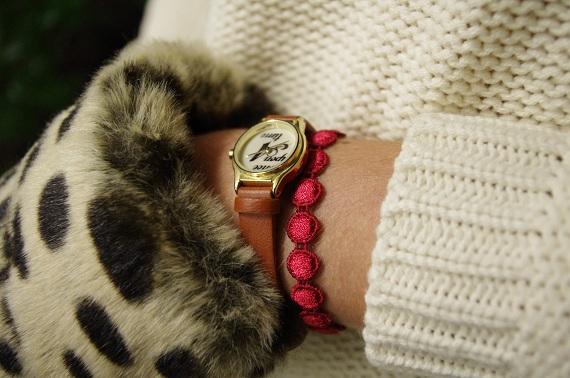 moufles Topshop léopard bracelet Cruciani