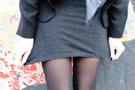 robe School Rag noire fluo