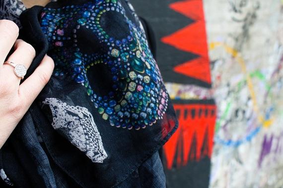 veste foulard Zara tête mort