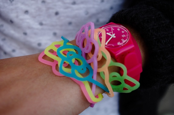 mode montre Swatch rose
