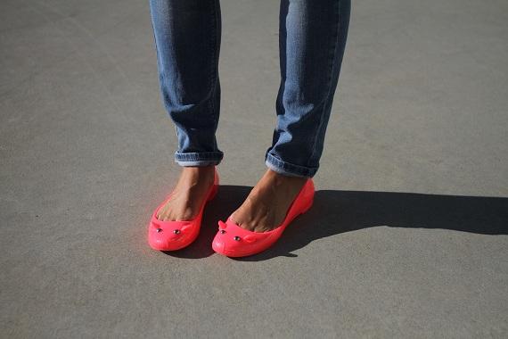 jean Zara ballerines Marc Jacobs