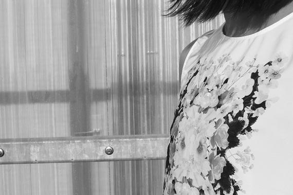 top H&M fleuri Vinted