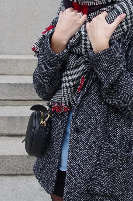 écharpe foulard chèche Zara tartan écossais