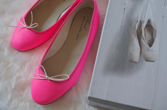 ballerines Anniel rose fluo