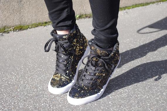 baskets sneakers Supra sequins dorés