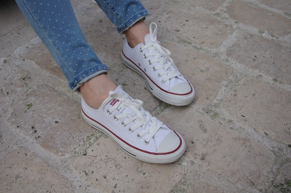 baskets Converse basses blanches
