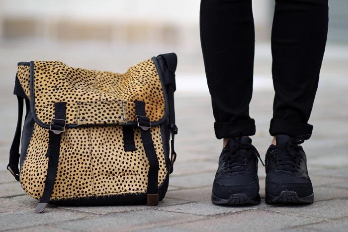 sac à main léopard Rockmafia