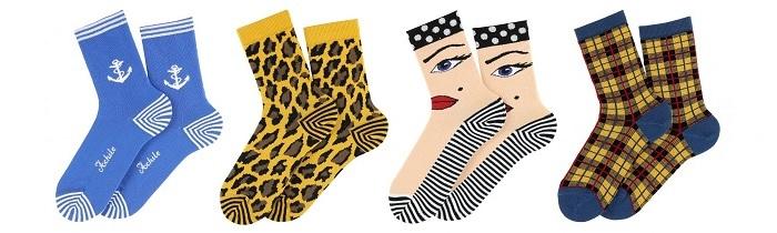 chaussettes fantaisies françaises femme Achile
