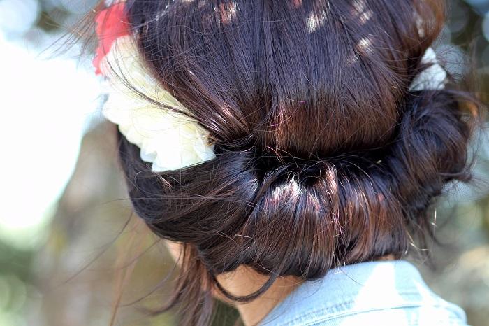 coiffure headband bandeau fleurs