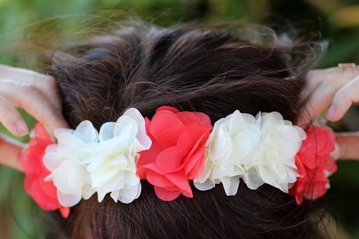 headband couronne fleurs Les petites shanghaiennes