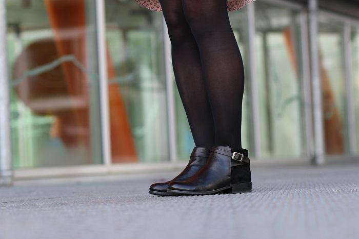bottines cuir noir André