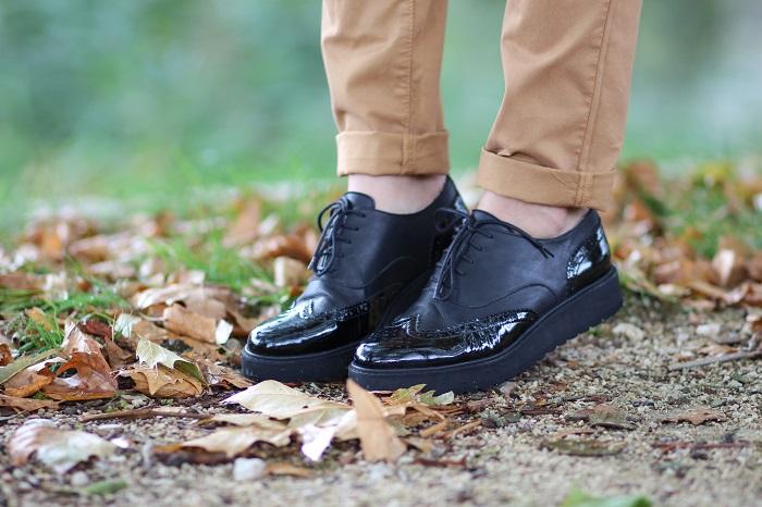 chaussures derbies noires vernies ANAKI Paris