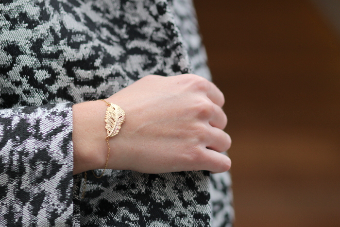bracelet plume Les Dissonnances