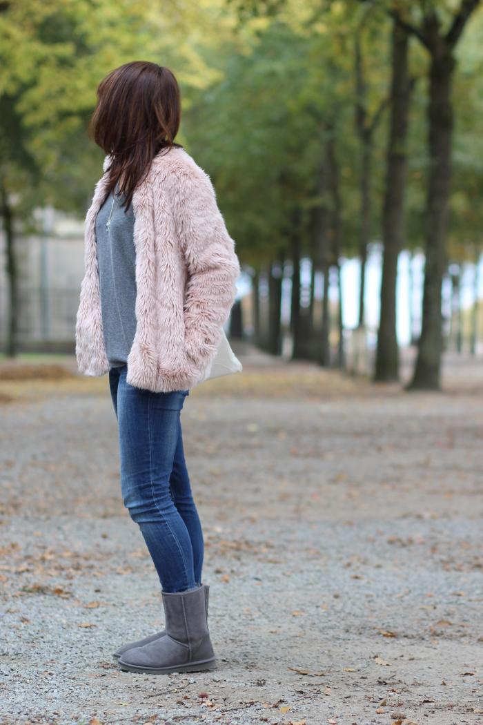 manteau fausse fourrure pas cher