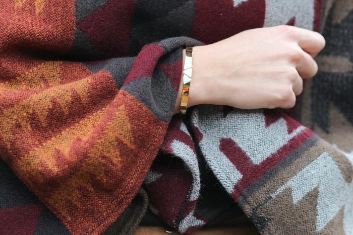 bracelet jonc manchette Azucar doré