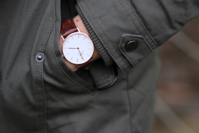 montre Daniel Wellington bracelet cuir marron