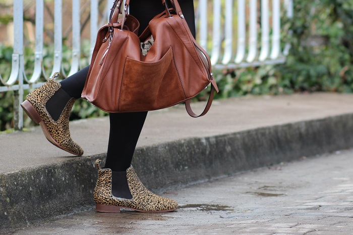 bottines boots Bensimon léopard
