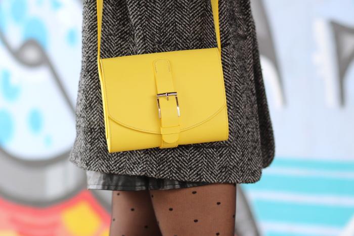 sac cartable cuir jaune Paul JOUAN