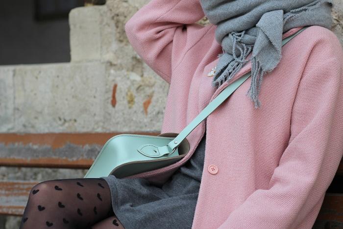 manteau sur-mesure rose Edie Grim