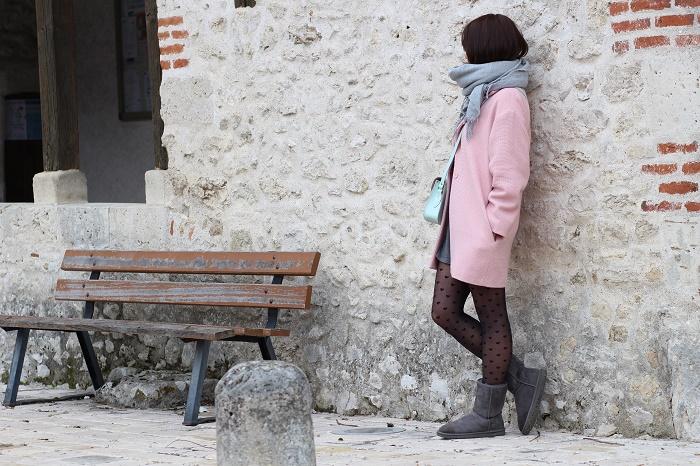 manteau su-mesure rose Edie Grim