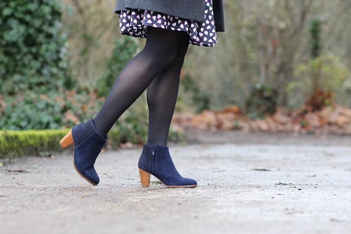 bottes bottines à talons cuir bleu Bobbies
