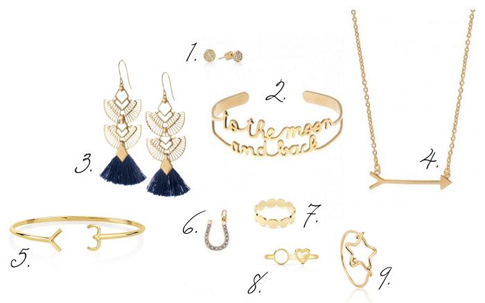 idées cadeaux sélection shopping bijoux dorés