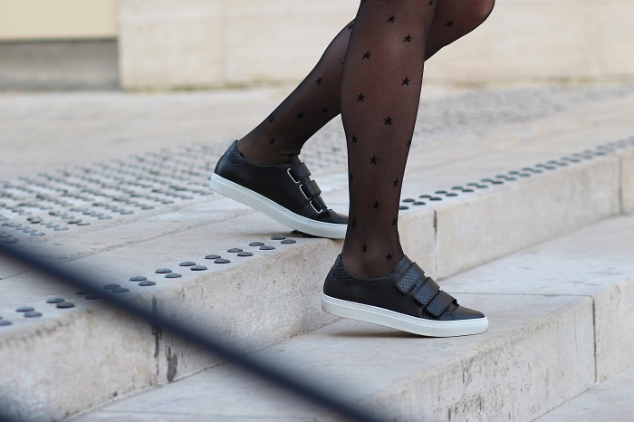 collants étoiles Jolie Frenchy sneakers Cosmoparis