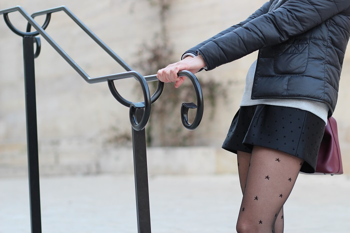 short noir étoiles Mademoiselle R