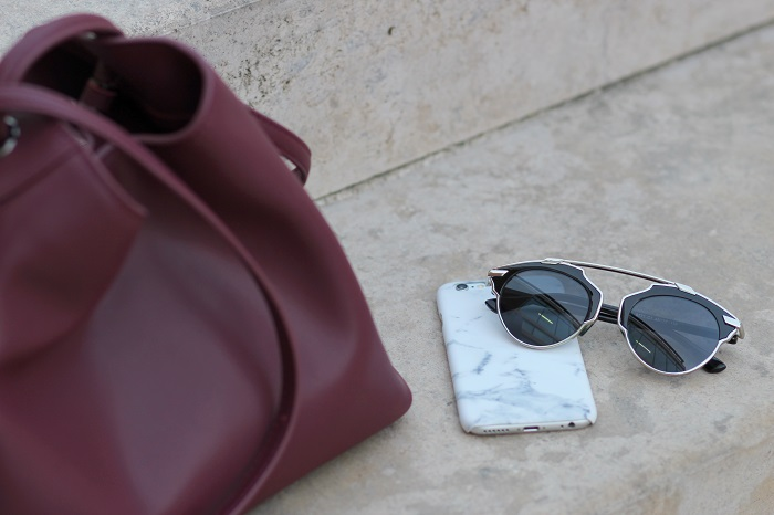 lunettes ersatz Dior coque iPhone marbre
