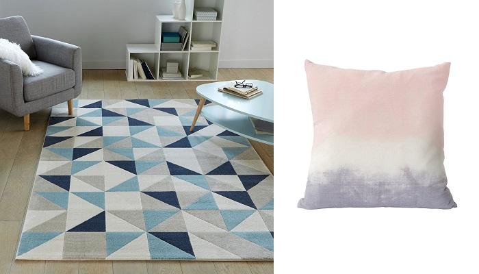 inspirations décoration intérieure tapis coussins