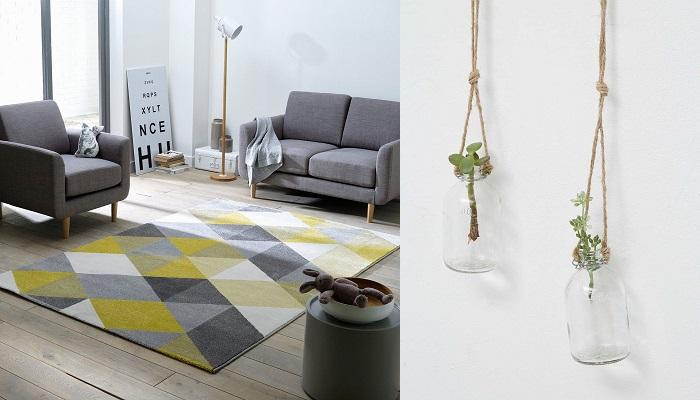 inspirations décoration intérieure tapis suspensions florales