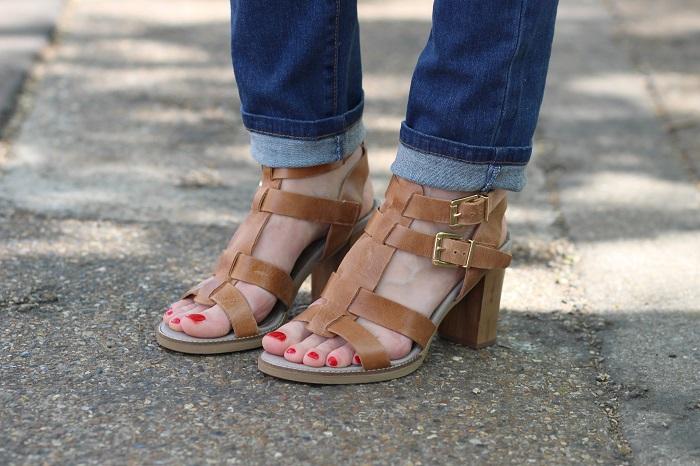 sandales talons Balsamik cuir