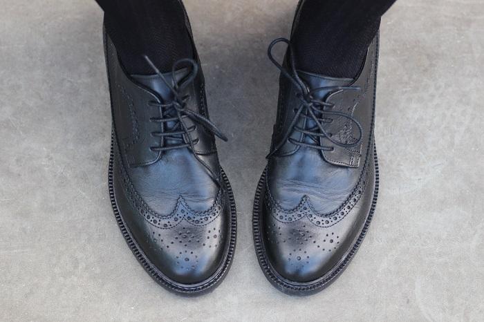 chaussures femme derbies noires Eram