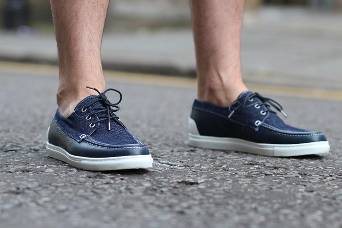 chaussures bateau bleue Hacter