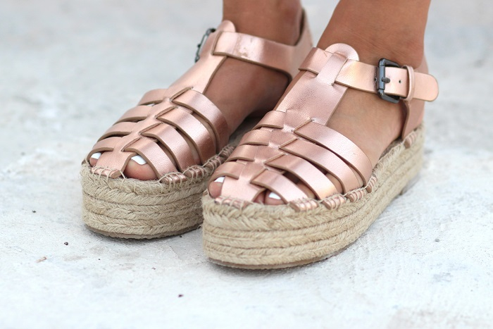 sandales espadrilles compensées