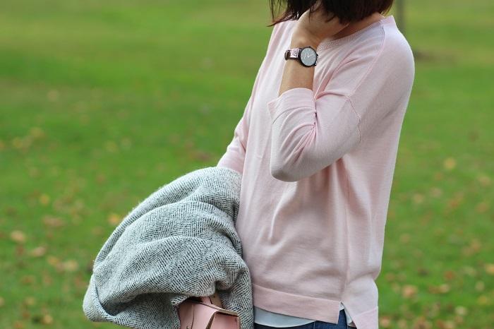 pull laine mérinos rose