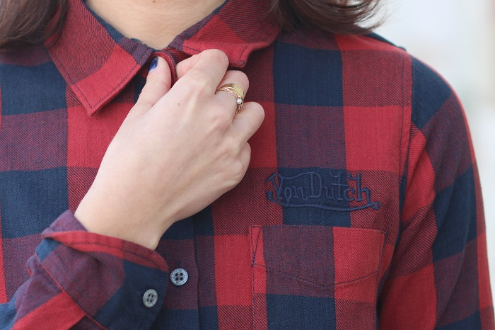 chemise carreaux femme
