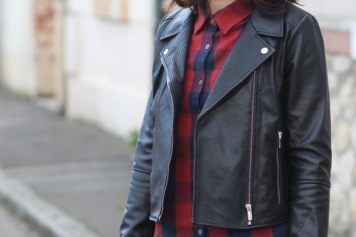 veste perfecto cuir noir Une Fille