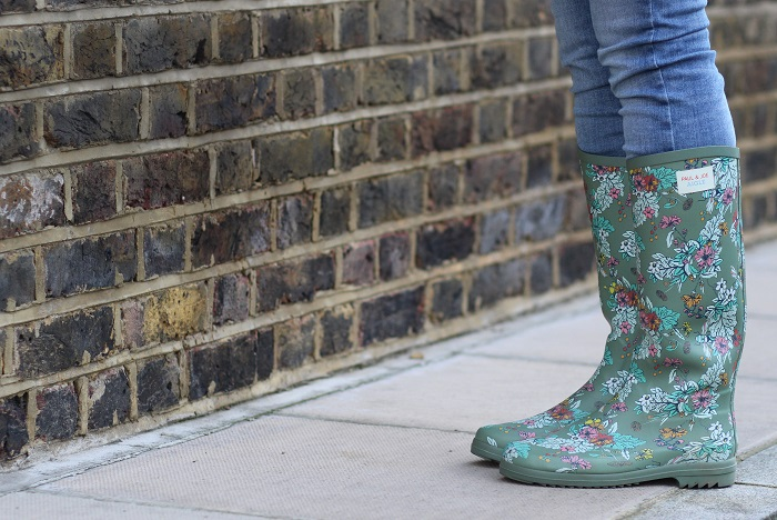 bottes pluie caoutchouc femme fleurs
