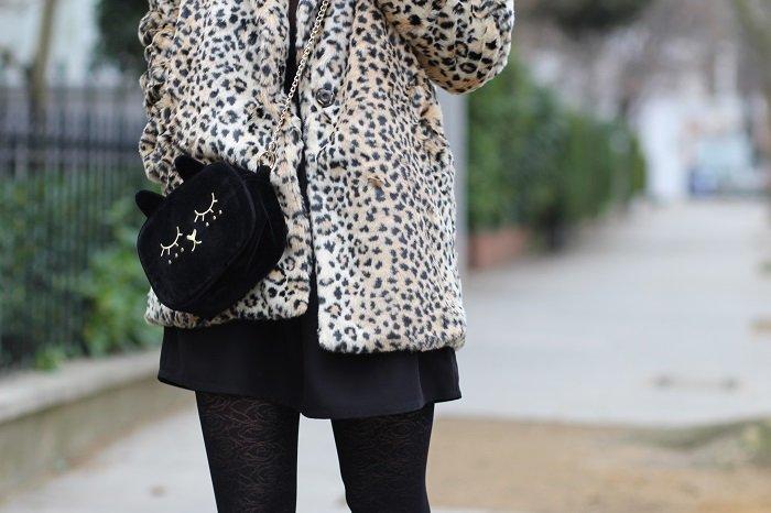 manteau fausse fourrure léopard
