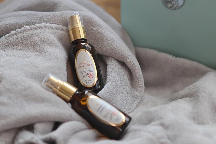 Photo de 2 flacons de synergie d'huiles essentielles - formules circulation et sommeil par Diet World