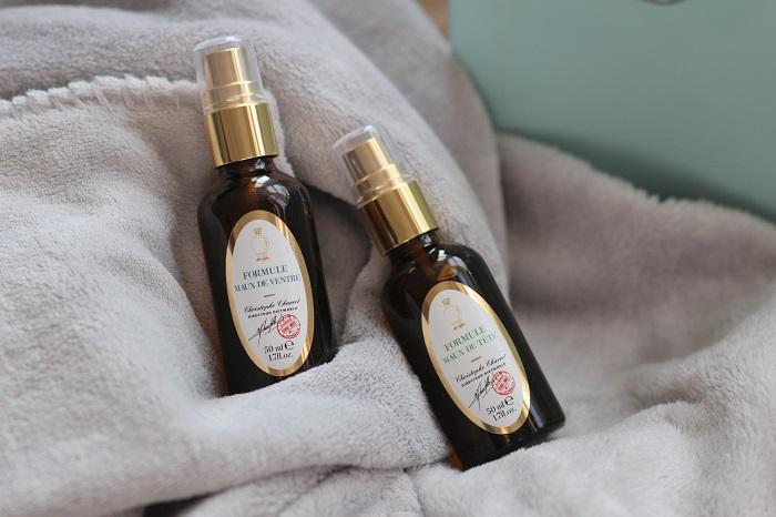 Photo de 2 flacons de synergie d'huiles essentielles - formules maux de tête et de ventre par Diet World